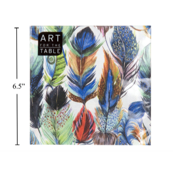 Image de BLUE FEATHERS LUNCHEON NAPKIN