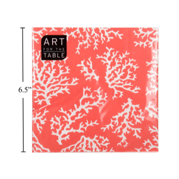 Picture of WHITE CORAL LUNCHEON NAPKIN