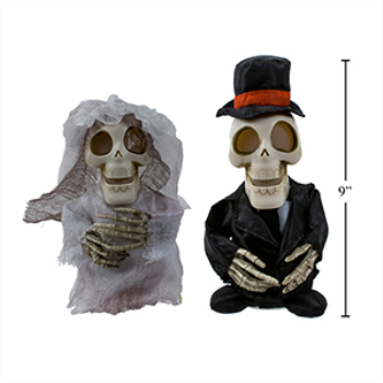 Picture of SKELETON BRIDE AND GROOM WITH VOICE RECORDING