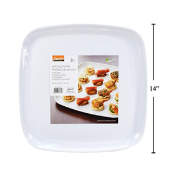 Image de REUSABLE PARTY PLATTERS SQUARE