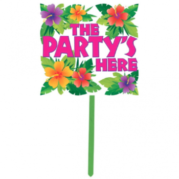 Picture of SUMMER YARD SIGN - THE PARTY'S HERE