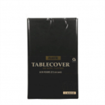 Picture of BLACK ROUND TABLE COVER 84""