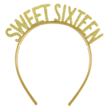 Picture of 16th - SWEET 16TH GLITTER GOLD HEADBAND