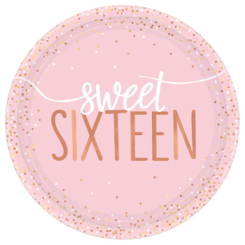 "Picture of 16th - SWEET 16TH BLUSH 7"" PLATES"