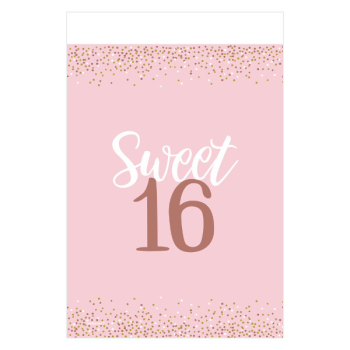 Picture of 16th- SWEET 16TH BLUSH TABLE COVER