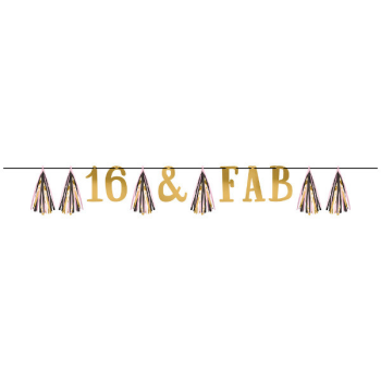 Picture of 16th - SWEET 16TH TASSEL LETTER BANNER