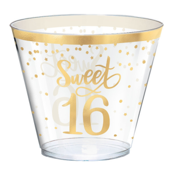 Picture of 16th - SWEET 16TH HOT STAMPED 9oz TUMBLERS