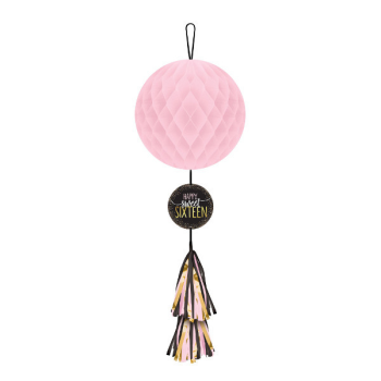 Picture of 16th - SWEET 16TH HONEYCOMB DECORATION WITH TASSEL TAIL