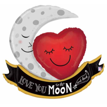 Picture of LOVE YOU TO THE MOON AND BACK SUPERSHAPE