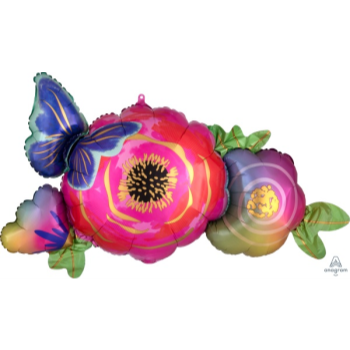 Picture of FLOWERS & BUTTERFLY SUPERSHAPE
