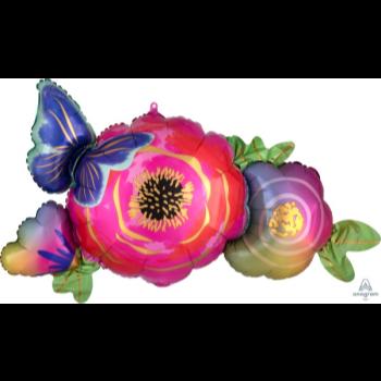 Image de FLOWERS & BUTTERFLY SUPERSHAPE