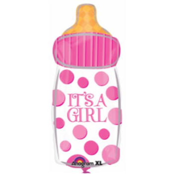 "Image de 18"" FOIL - IT'S A GIRL BOTTLE JUNIOR SHAPE"