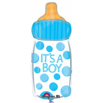 "Image de 18"" FOIL - IT'S A BOY BOTTLE JUNIOR SHAPE"