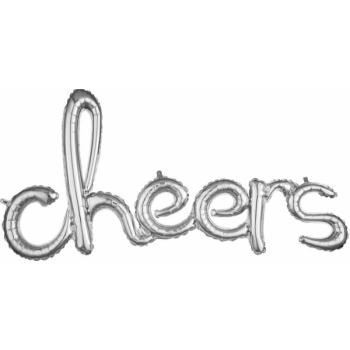 Picture of CHEERS SILVER MYLAR BALLOON BANNER - AIR FILLED