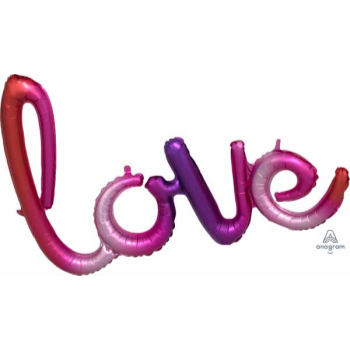 Picture of LOVE OMBRE MYLAR BALLOON BANNER - AIR FILLED