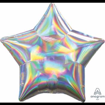 "Image de 18"" FOIL - IRIDESCENT SILVER STAR"