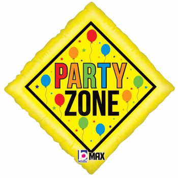 """Picture of 18"""" FOIL - PARTY ZONE"""