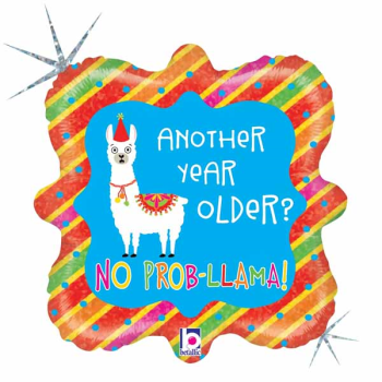 "Picture of 18"" FOIL - LLAMA BIRTHDAY"