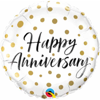 "Picture of 18"" FOIL - ANNIVERSARY GOLD DOTS"