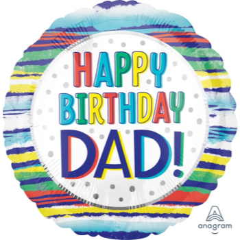 "Picture of 18"" FOIL -  DAD HAPPY BIRTHDAY"
