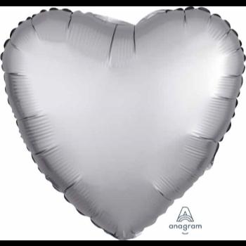 """Image de 18"""" FOIL - LUXE PLATINUM HEART"""
