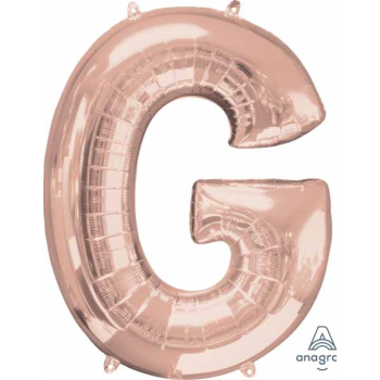 "Picture of 34"" LETTER G SUPER SHAPE - ROSE GOLD"