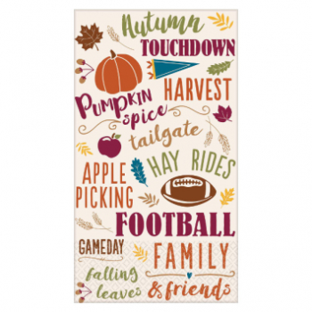 Picture of FALL WORDS GUEST TOWEL