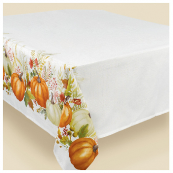 Picture of TRADITIONAL PUMPKINS FABRIC TABLE COVER
