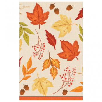 Picture of FALL FOLIAGE PLASTIC TABLE COVER
