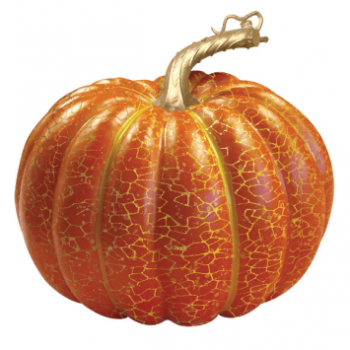 Picture of LARGE ORANGE CRACKLE PUMPKIN