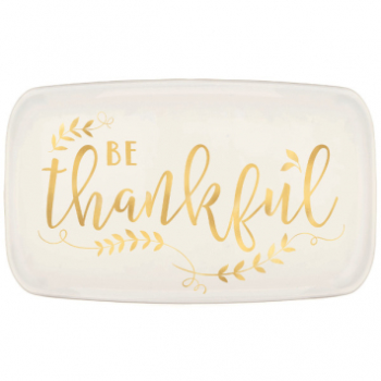 Picture of BE THANKFUL PLASTIC RECTANGULAR PLATTER