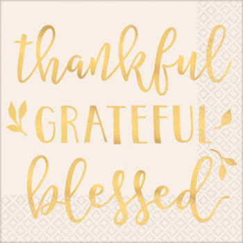 Picture of THANKFUL GRATEFUL BLESSED LUNCHEON NAPKINS