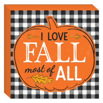 Picture of I LOVE FALL STANDING PLAQUE