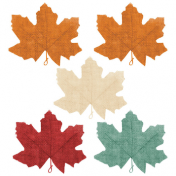 Picture of BURLAP MAPLES LEAFS - 5/PK