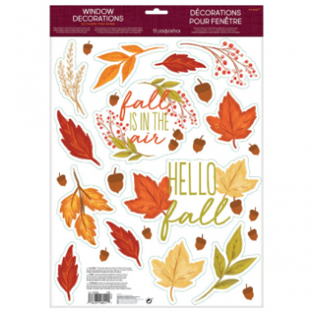Picture of FALL LEAFS VINYL WINDOW DECORATIONS