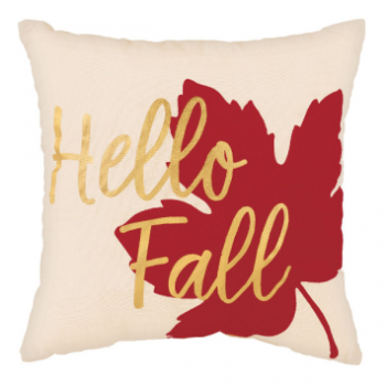 "Picture of HELLO FALL PILLOW - MAPLE LEAF 12""x12"""