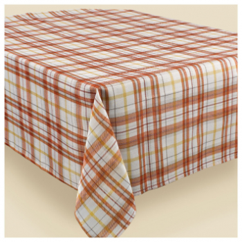 Picture of HARVEST PLAID FABRIC TABLE COVER