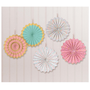 Picture of PASTEL MINI HANGING FANS - HOT STAMPED