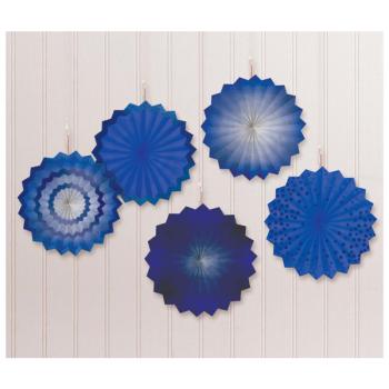 Image de ROYAL BLUE MINI HANGING FANS - HOT STAMPED