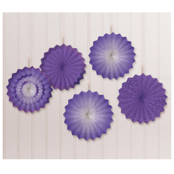 Picture of PURPLE MINI HANGING FANS - HOT STAMPED