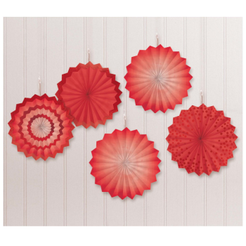 Picture of RED MINI HANGING FANS - HOT STAMPED