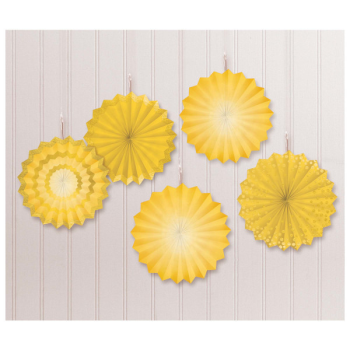Picture of YELLOW MINI HANGING FANS - HOT STAMPED