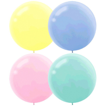 "Picture of 24"" PASTEL ASSORTED LATEX BALLOONS"
