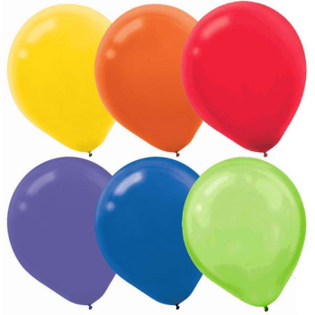 """Picture of 12"""" RAINBOW ASSORTED LATEX BALLOONS 15/PKG"""