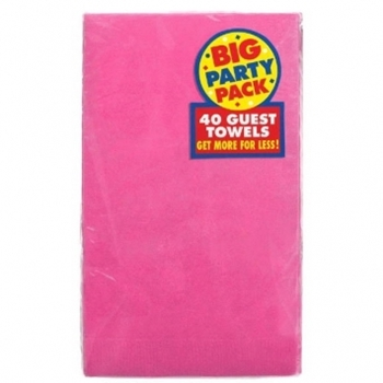 Picture of BRIGHT PINK GUEST TOWELS