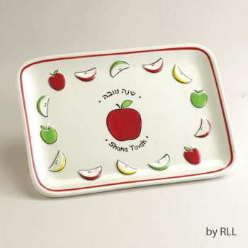 Picture of JUDAICA - CERAMIC SHANA TOVA APPLE PLATE