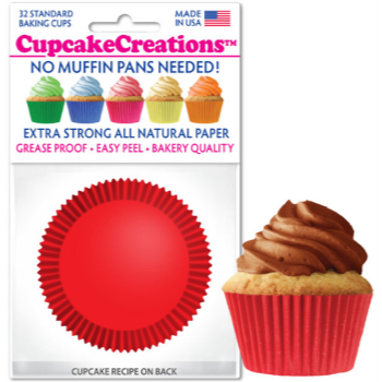 Picture of BAKING CUPS - STANDARD - RED 32/PKG