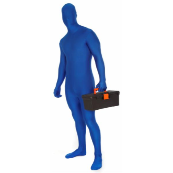 Picture of BLUE MORPHSUIT ADULT - LARGE