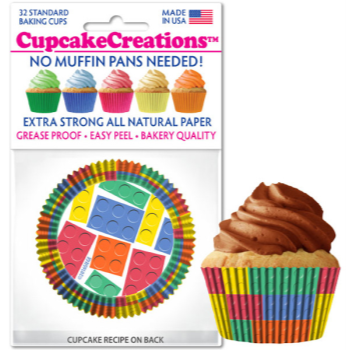 Picture of BAKING CUPS - STANDARD - BUILDING BLOCKS  32/PKG