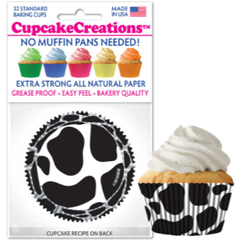 Picture of BAKING CUPS - STANDARD - COW PRINT 32/PKG